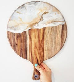 chopping board white and earthly colors DELLAQUILA DESIGNS