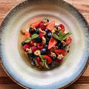 Sticky Rice - Coconut, kaffir, summer berries, vegan honeycomb